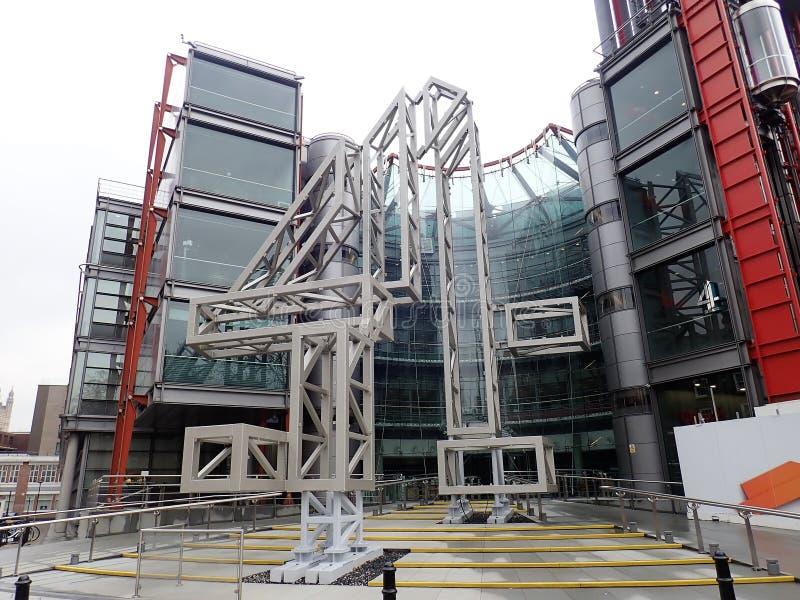 124 Horseferry-Road, het hoofdkwartier van Britse die televisieomroep, Channel 4 door Richard Rogers en de Partners wordt ontworp stock afbeelding