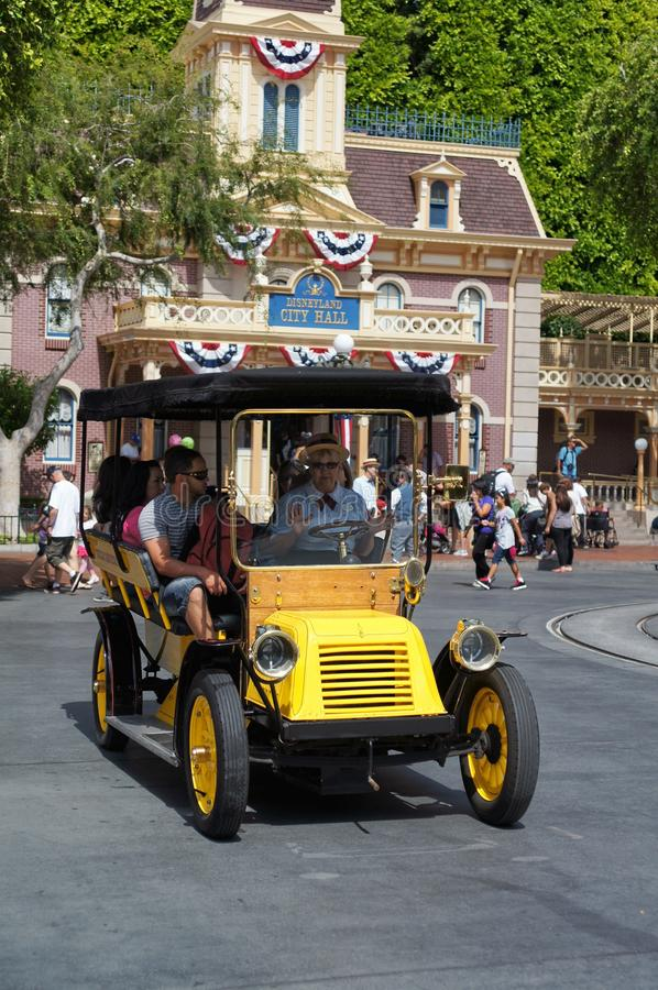 Horseless Carriage Main Street Disneyland stock photos