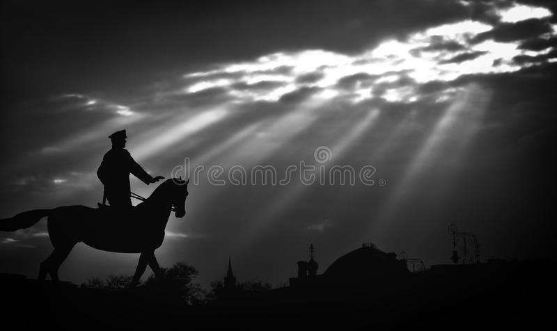Download Horseman stock photo. Image of clouds, monument, town - 20159330