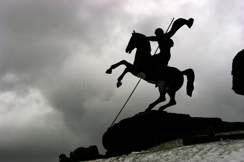 Download Horseman stock photo. Image of george, moscow, dragon, russia - 367644