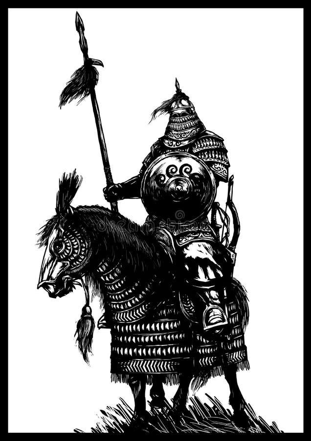 horseman royalty-vrije illustratie