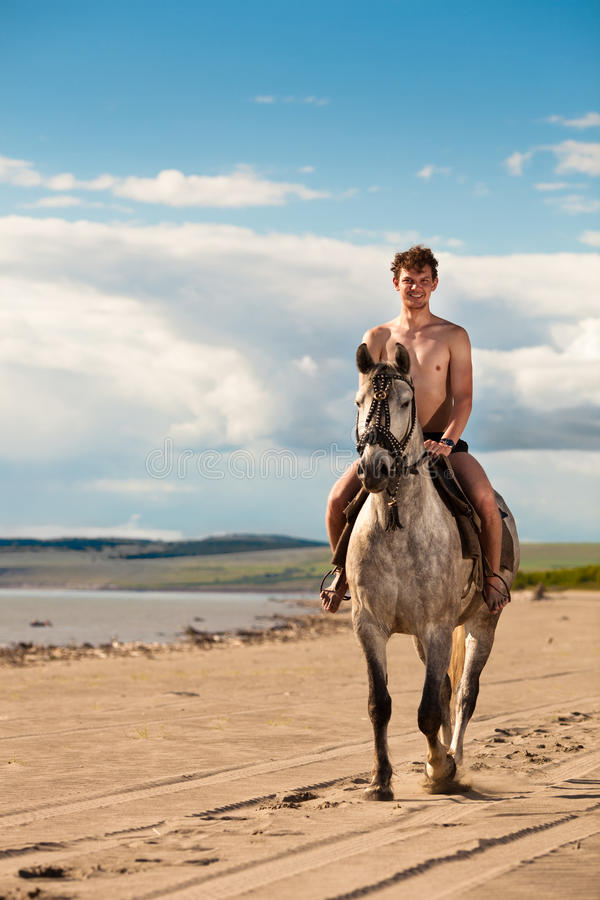 Download Horseman On The Beach Stock Image - Image: 20302731