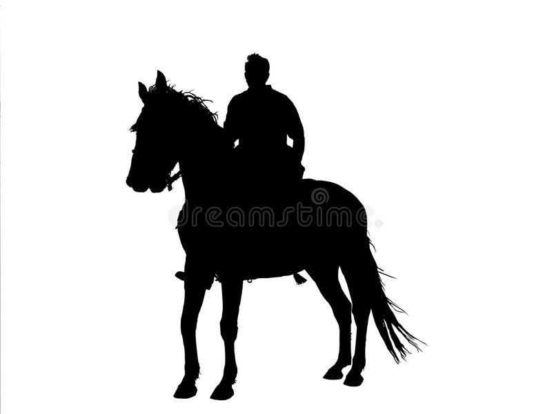 Horseman Silhouette royalty free stock photography