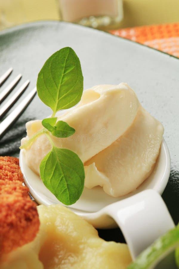 Horseradish cream spread royalty free stock photography
