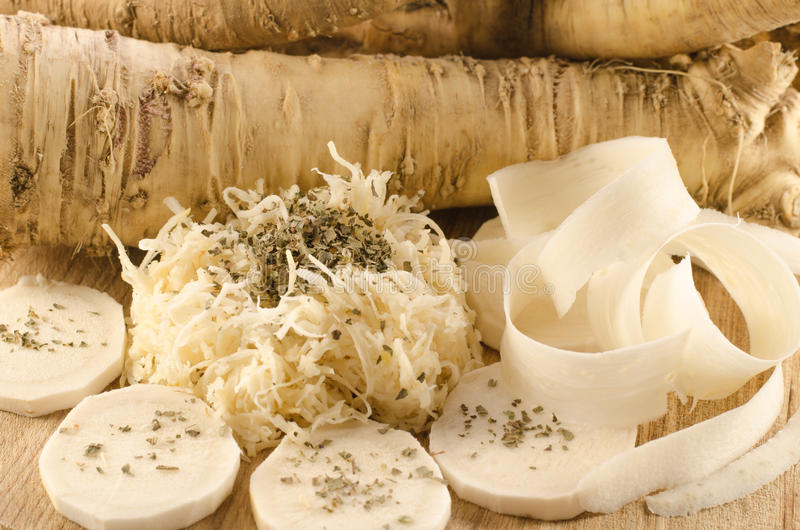 Horseradish, natural and pure power stock photo