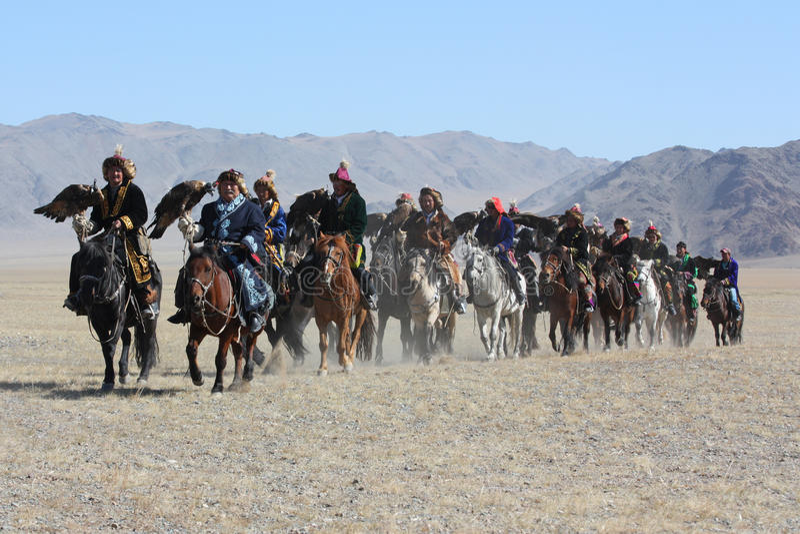 Horseriders in Mongool stock fotografie