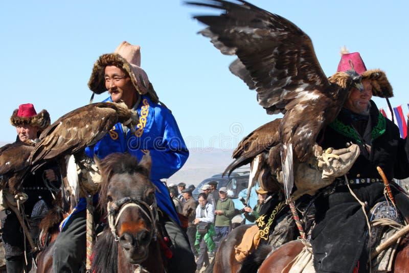 Horseriders no mongolian imagem de stock royalty free