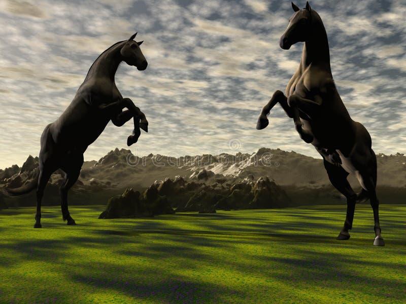Download Horses stock illustration. Illustration of free, cloud - 28971433