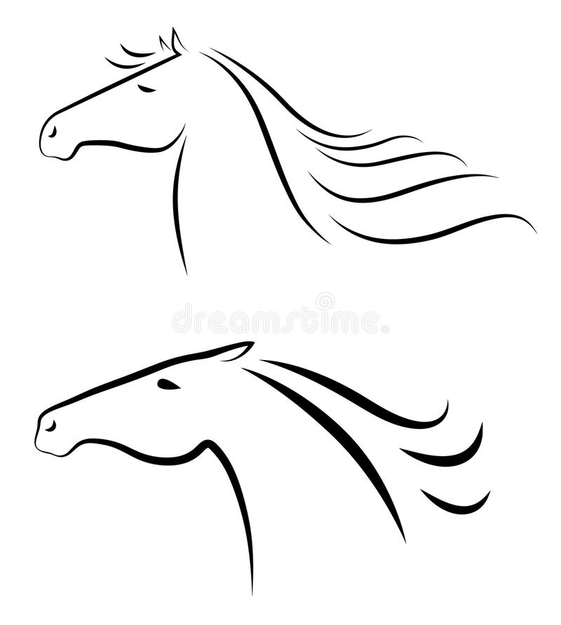 Download Horses heads stock vector. Illustration of artistic, decoration - 33970738