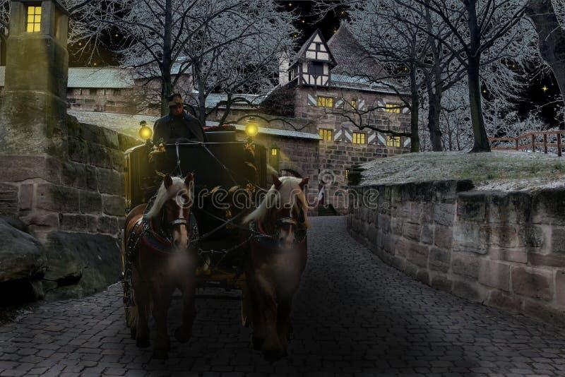 Horses Pulling Coach Free Public Domain Cc0 Image