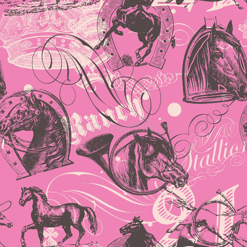 Download Horses Seamless Pattern stock photo. Image of bolt, background - 28998536