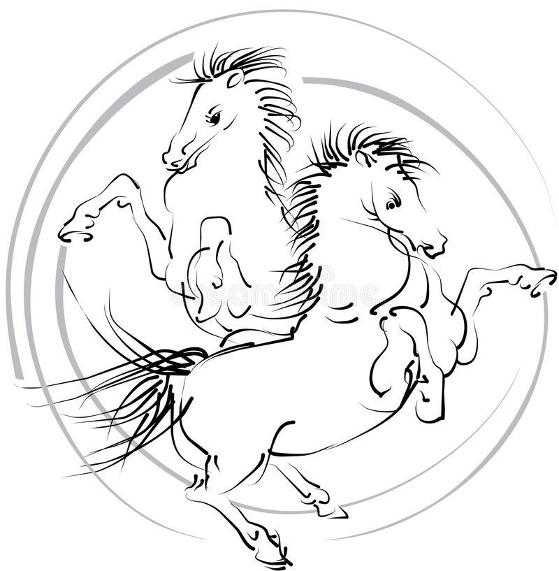 Free Horses (vector) Stock Image - 7308081