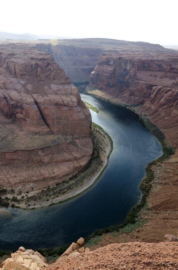 Horseshoe каньон в Соединенных Штатах стоковая фотография