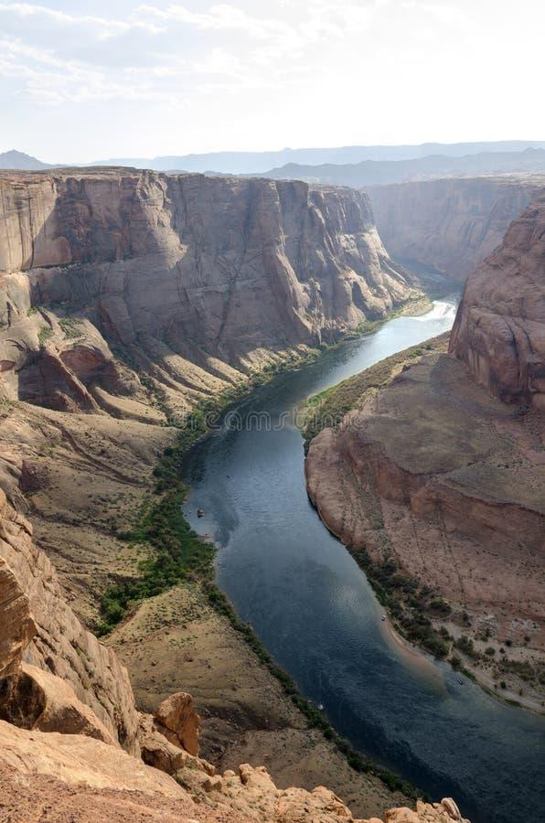 Horseshoe каньон в Соединенных Штатах стоковые фотографии rf