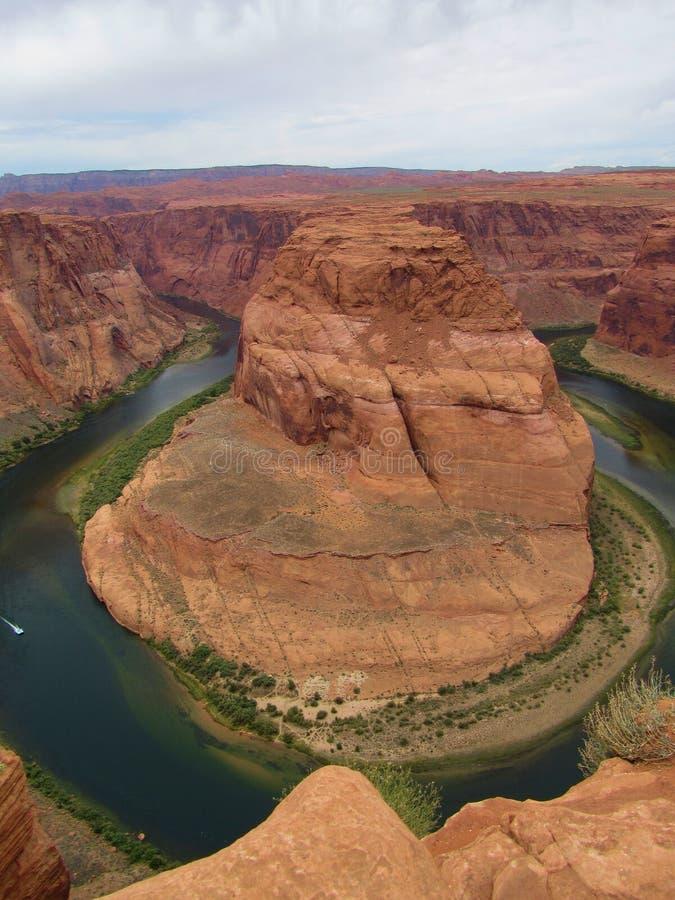 Horseshoe страница Аризона загиба стоковое фото rf