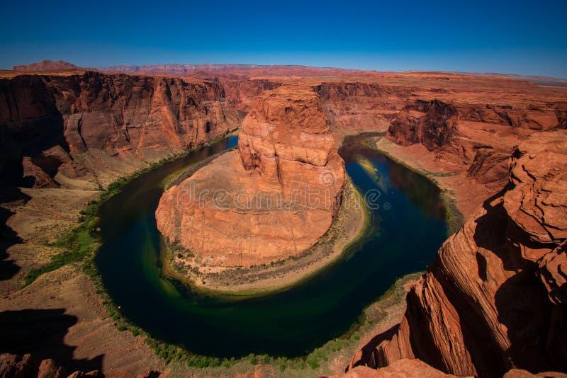 Horseshoe bend, Arizona, United States. View of beautiful Horseshoe bend in Arizona, United States royalty free stock images