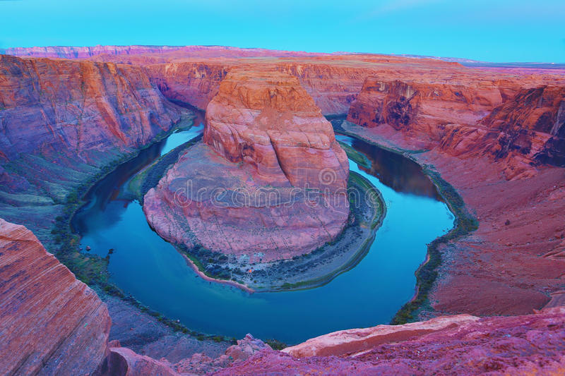 Horseshoe Bend Colorado River, Page, AZ royalty free stock photography