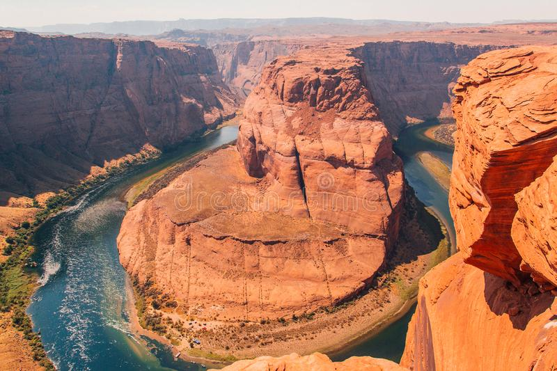 Horseshoe Bend is a famous meander on river Colorado royalty free stock image