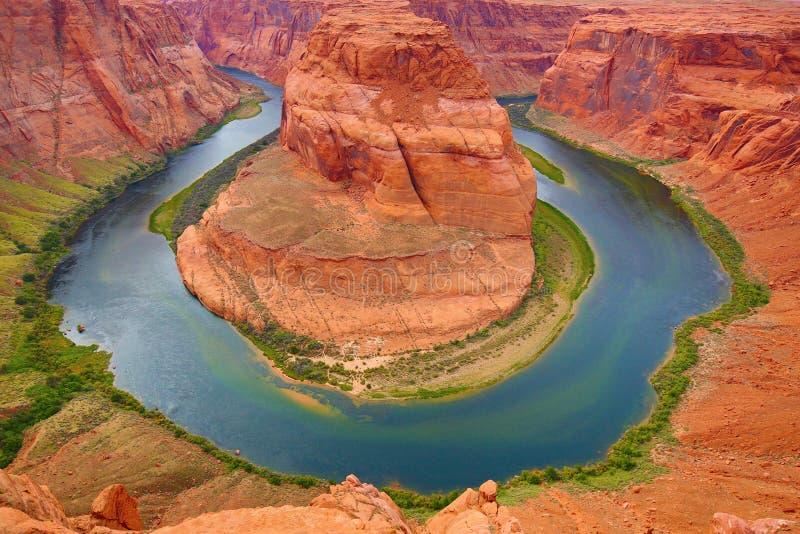 Horseshoe canyon. Famous Horseshoe canyon formation near Page, Arizona stock photos