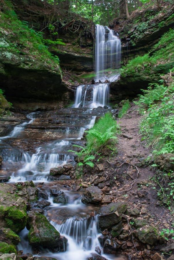 Horseshoe Falls Munising, Michigan, USA stock photo