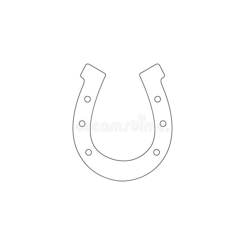 horseshoe Ic?ne plate de vecteur illustration stock