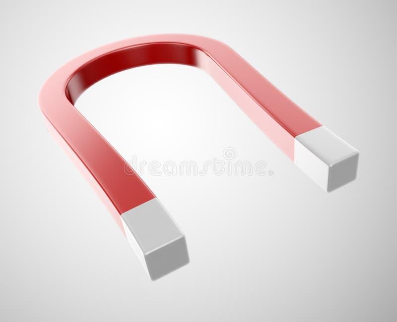 Download Horseshoe Magnet On A White Stock Illustration - Image: 24941902