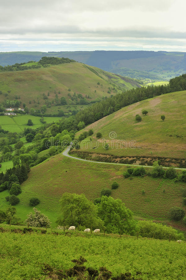 Horseshoe pass, Llangollen, North Wales royalty free stock images