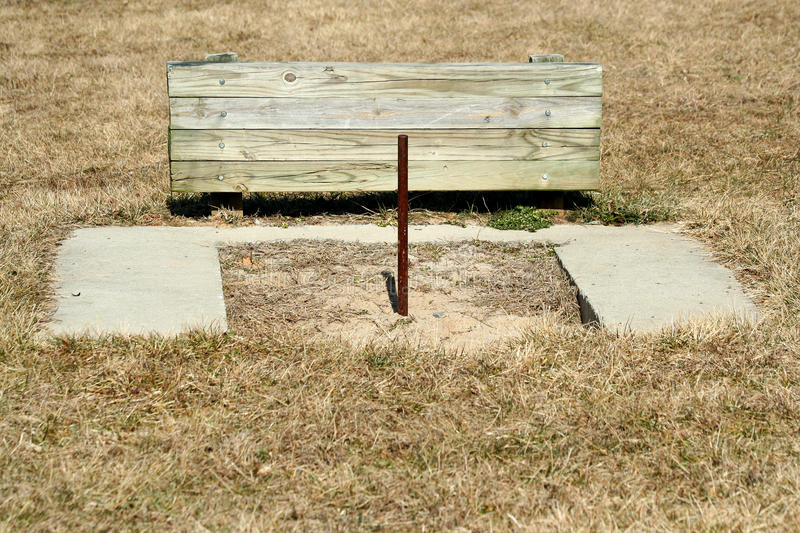Download Horseshoe pit stock photo. Image of wood, steel, grass - 23609756