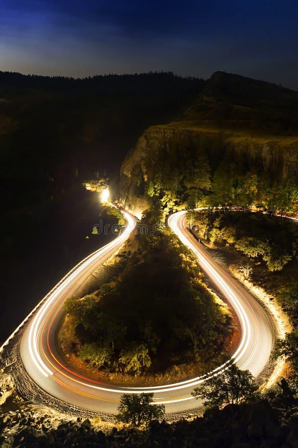 Free Horseshoe Roadway At Night Stock Photography - 82013752