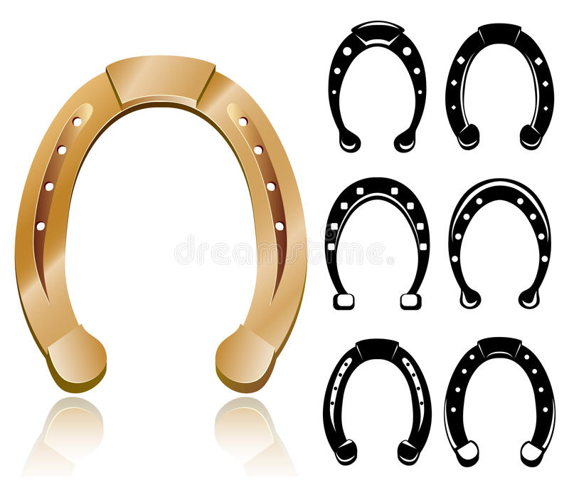 Horseshoe set vector illustration