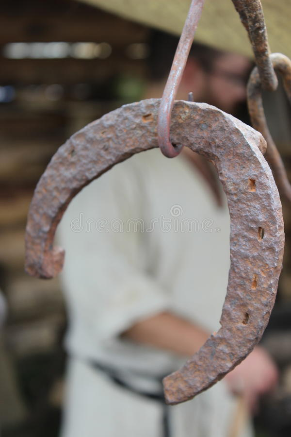 Horseshoe. Style of old in the forge stock photos