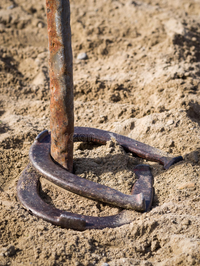 Download Horseshoes double ringer stock image. Image of sport - 27034957
