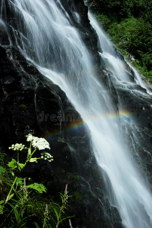 Horsetail Falls Near Valdez, AK Royalty Free Stock Photo