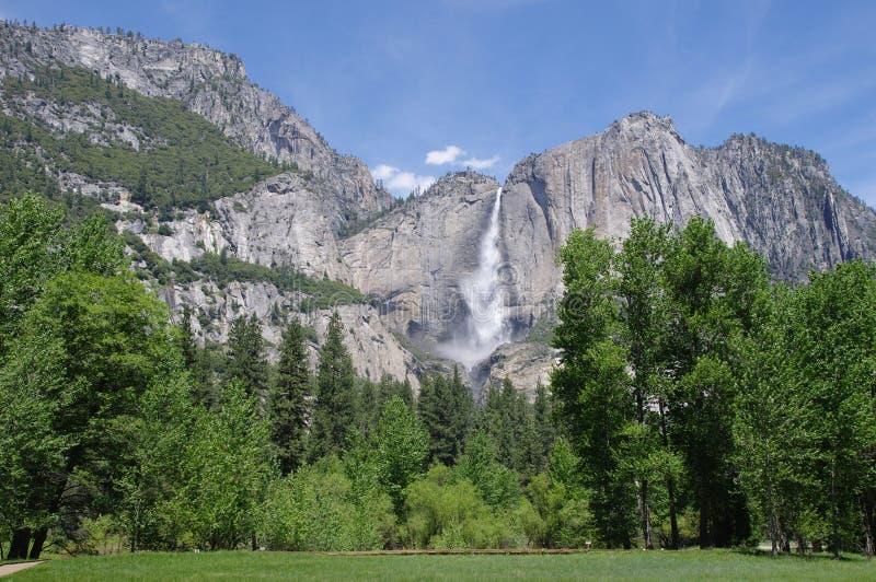 Horsetail spadek, Yosemite park narodowy, Kalifornia fotografia royalty free