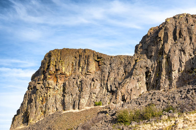 Horsethief小山哥伦比亚河峡谷 库存照片