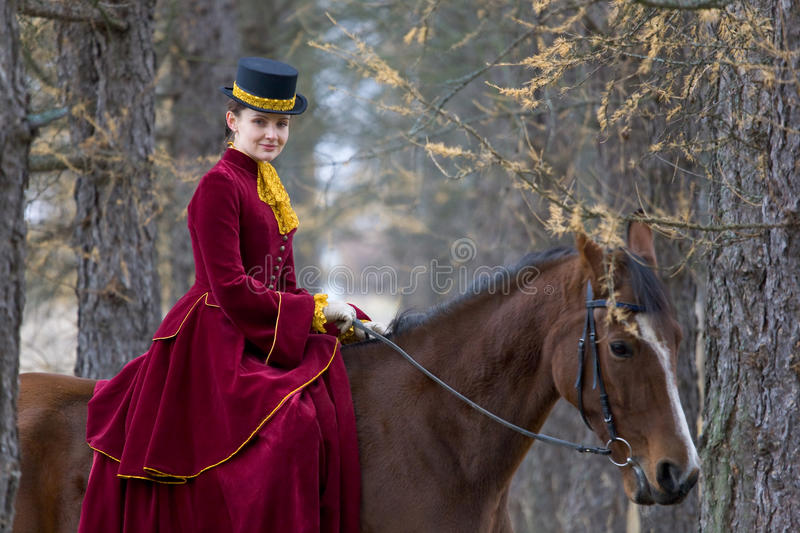 Horsewoman stock images