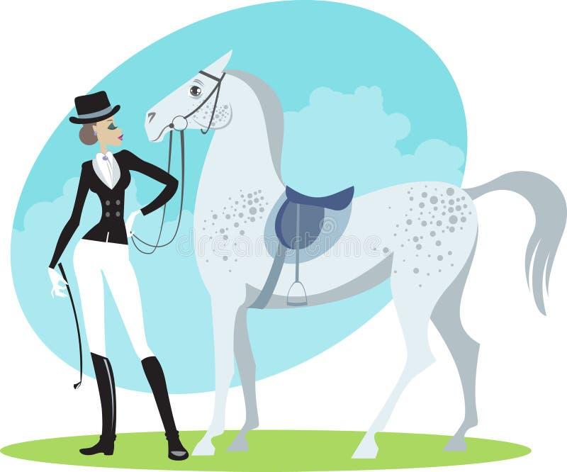 horsewoman бесплатная иллюстрация