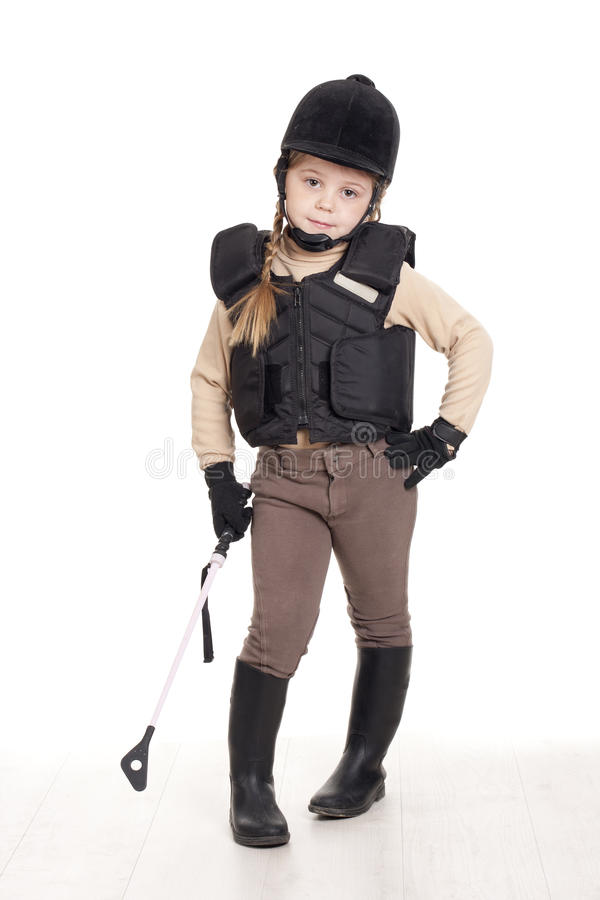 Horsewoman. A girl riding with his team stock images