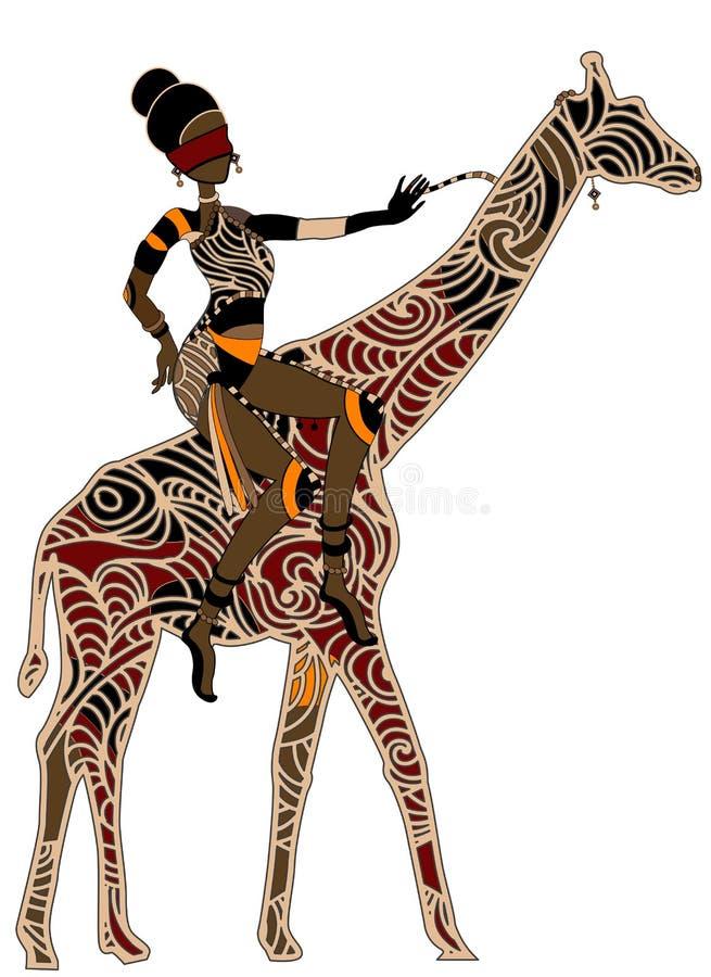 Horsewoman royalty ilustracja