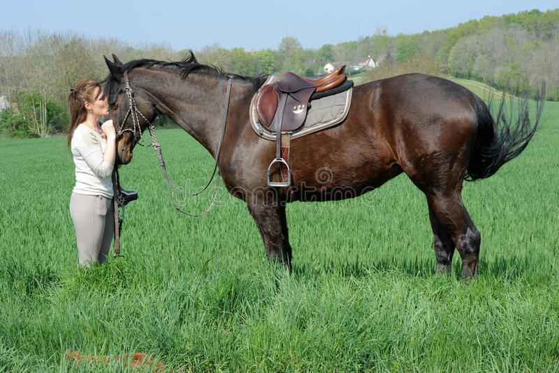 horsewoman fotos de archivo