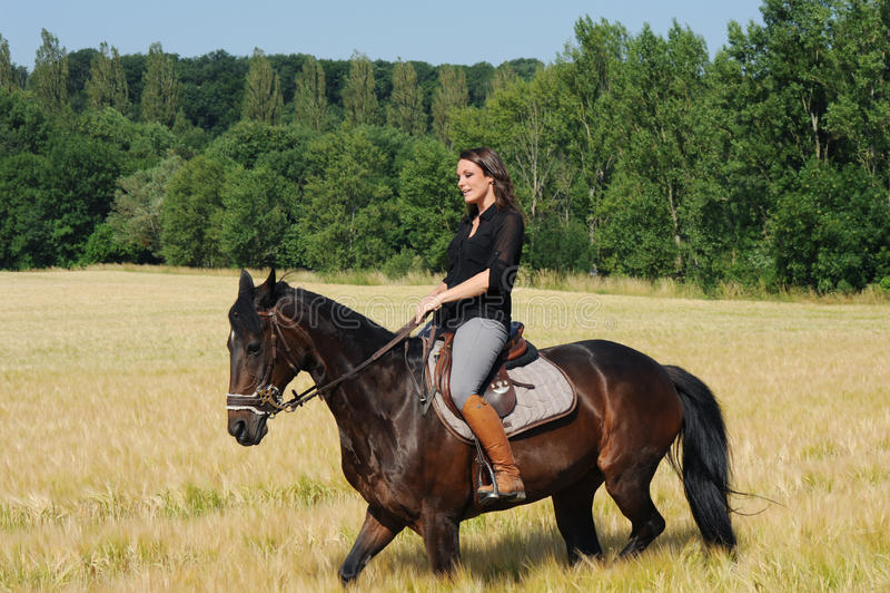 horsewoman fotos de archivo libres de regalías
