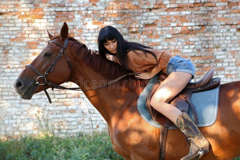 horsewoman imagen de archivo