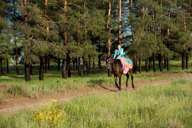 Horsewoman jazda zdjęcia royalty free