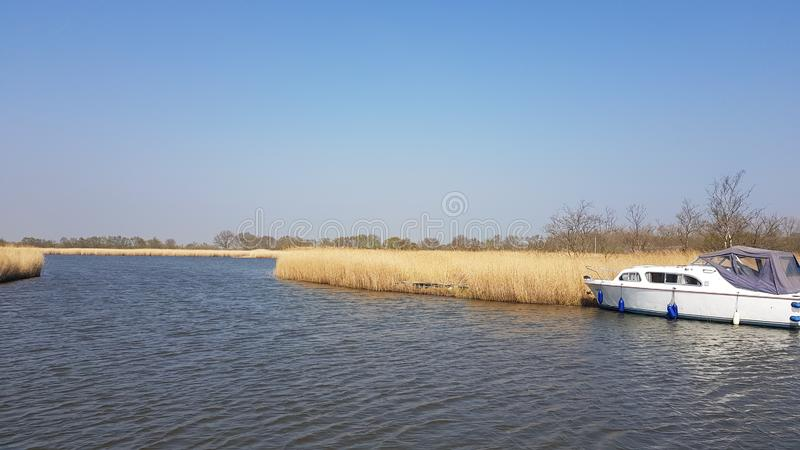 Horsey Mere is one of the Norfolk Broads in the east of england uk royalty free stock photos