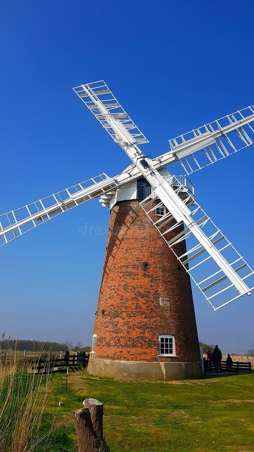 Horsey Windpump is een windpump of drainagewindmolen in het dorp van Horsey, Norfolk royalty-vrije stock afbeelding