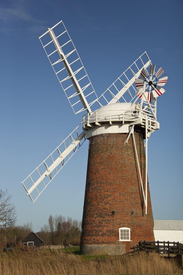 Horsey Windpump - Norfolk Broads - Engeland stock foto