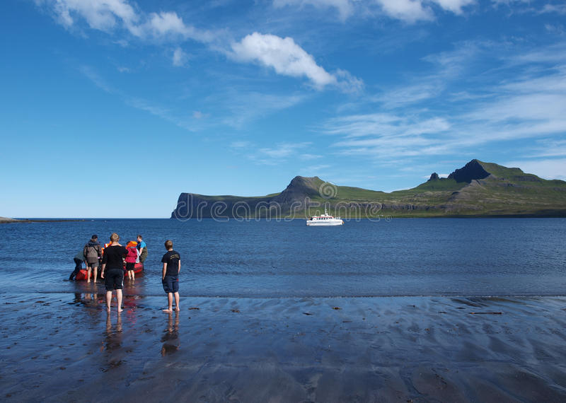 Horsntrandir, riserva naturale, Islanda. fotografia stock libera da diritti