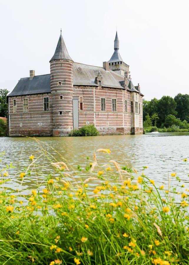 Horst Castle vicino a Lovanio nel Belgio immagine stock libera da diritti