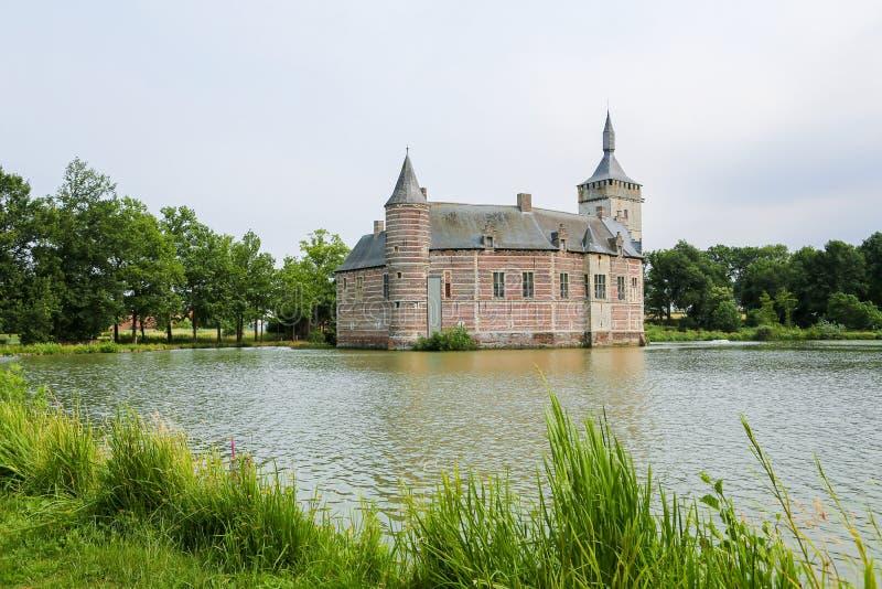 Horst Castle vicino a Lovanio nel Belgio immagini stock libere da diritti