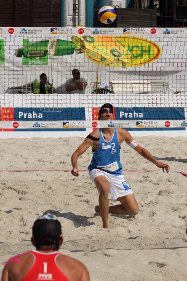 Horst de Alexander - voleibol de la playa foto de archivo